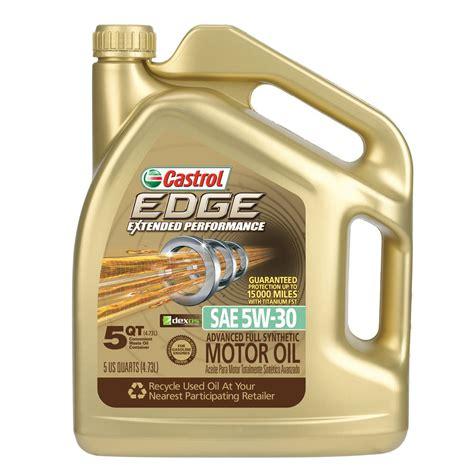 castrol edge motorenöl 5w 30 5l castrol 03087 edge extended performance 5w 30 synthetic motor 5 quart
