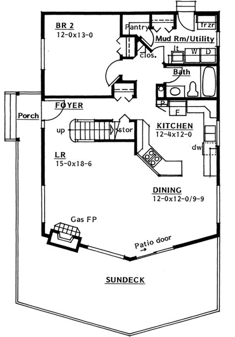 Contemporary Style House Plans 1561 Square Foot Home 2