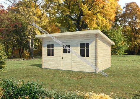 bureau de jardin en kit bureau ou chalet de jardin caen 12 en madriers de 68 mm