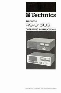 K1200lt Tape Deck Wiring Diagram : technics rs 615us stereo cassette tape deck service manual ~ A.2002-acura-tl-radio.info Haus und Dekorationen