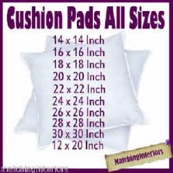 ebay home interiors scatter cushion pads inserts fillers inners all sizes ebay