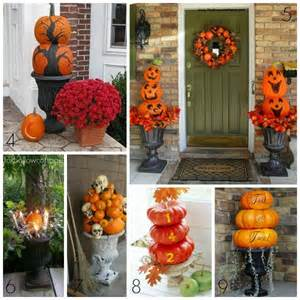 Halloween Porch Decorating Ideas with Urns