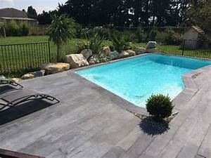 plage piscine carrelage imitation bois carrelage idees With carrelage imitation bois pour piscine