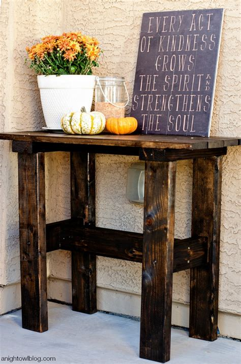 Front Porch Table by Diy Porch Table A Owl