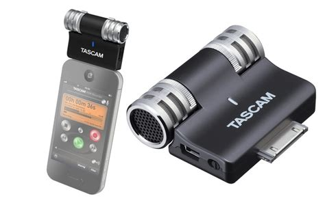 iphone microphone tascam im2 hi fi stereo mic for iphone wired