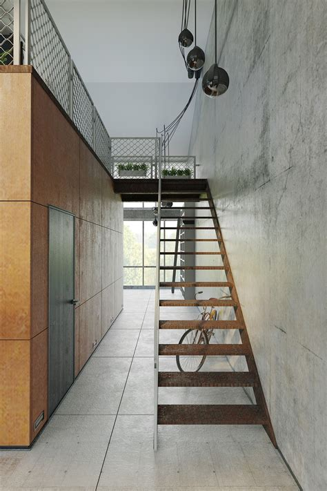 modern industrial floor l homes that use a concrete finish to achieve beautiful results