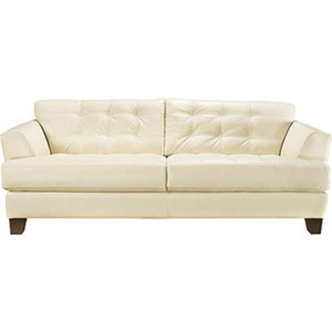 cindy crawford home avenue pearl leather sofa rooms to