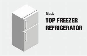 Hotpoint 14 6 Cu  Ft  Top Freezer Refrigerator In Black