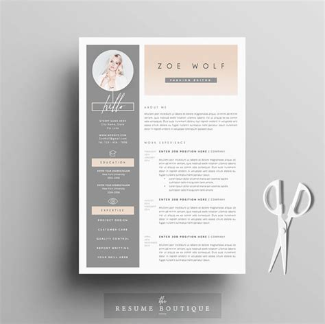 Pretty Resume Templates by Resume Template And Cover Letter References Template For