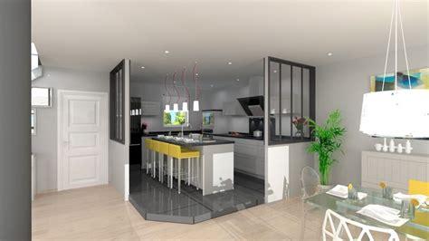 hotte de cuisine home depot cuisine semi ouverte avec ilot cuisine en image