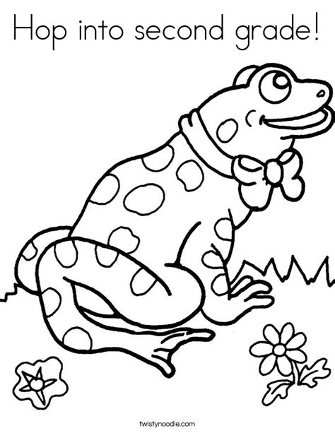hop into second grade coloring page twisty noodle