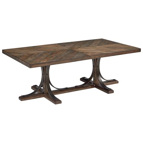 wood top metal base coffee table magnolia home by joanna gaines traditional wood top