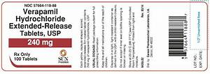 VERAPAMIL HYDROCHLORIDE (Caraco Pharmaceutical Laboratories, Ltd.): FDA Package... Verapamil Extended-release