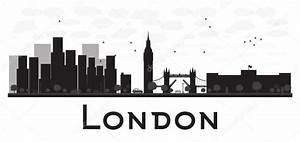 London Skyline Schwarz Weiß : london skyline schwarz wei silhouette stockvektor booblgum 88289072 ~ Watch28wear.com Haus und Dekorationen