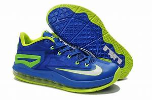 Low Price For Newest Nike Lebron James 11 Low Blue Green