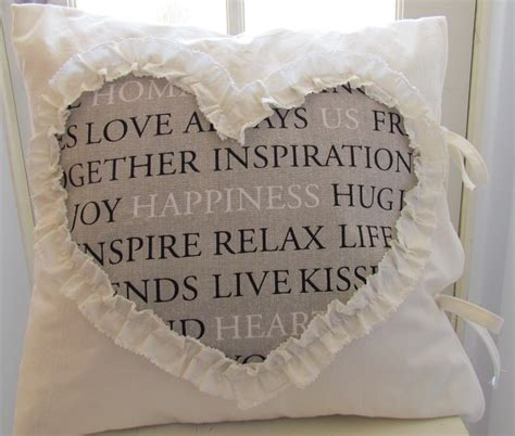 other words for shabby chic ruffled heart cushion pillow cover shabby chic cottage beach inspirational words lizzies