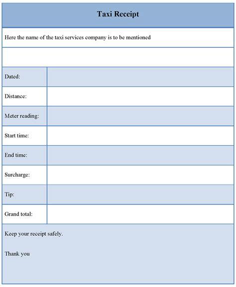 Receipt Template Taxi Receipt Template Format Format Of Taxi Receipt