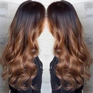Ombré Hair Chatain : ombr hair chatain cheveux mi long ~ Dallasstarsshop.com Idées de Décoration