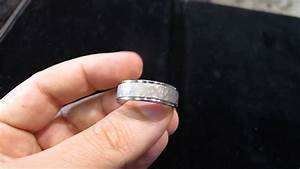 hammered platinum mens wedding band in los angeles youtube With mens wedding ring hand