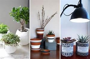 Pot Pour Plante Intérieur : des cache pots personnalis s pour petites plantes d 39 int rieur d co id es ~ Melissatoandfro.com Idées de Décoration