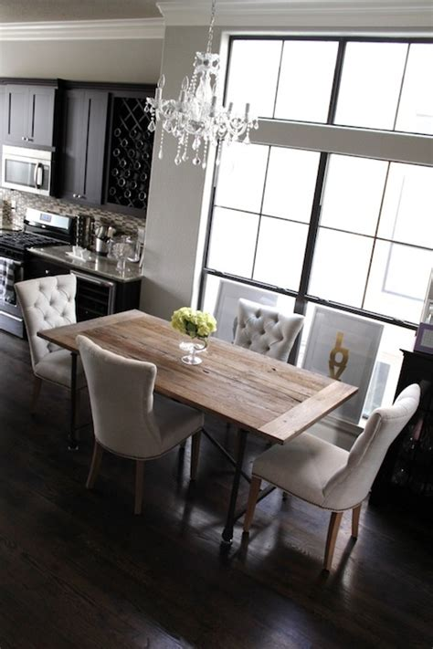 tufted dining chairs contemporary dining room