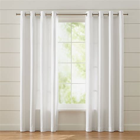 wallace white grommet curtains crate  barrel