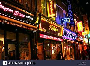 Indian restaurants in Brick Lane, London Stock Photo, Royalty Free Image: 23370904 - Alamy