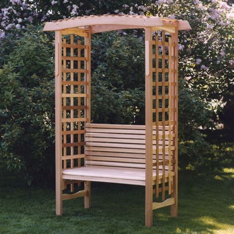 Garden Bench With Trellis by All Things Cedar Garden Arbor With Bench Arbors At Hayneedle