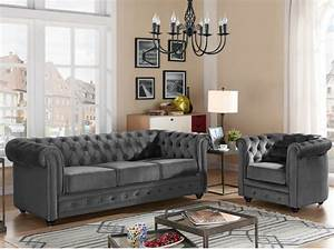 Chesterfield Sofa Samt : couchgarnitur samt chesterfield anna 10 farben ~ Whattoseeinmadrid.com Haus und Dekorationen