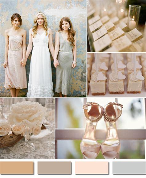 neutral wedding colors fabulous 10 wedding color scheme ideas for fall 2014 trends