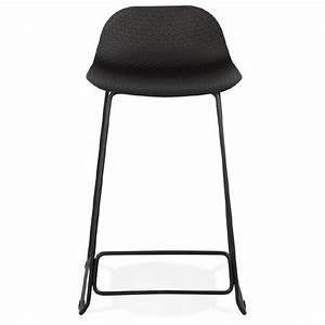Chaise Mi Hauteur : tabouret de bar chaise de bar mi hauteur design ulysse mini pieds m tal noir noir ~ Teatrodelosmanantiales.com Idées de Décoration