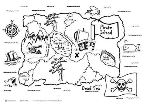 Treasure Hunt Template Tes by Pirate Treasure Map By Stephenrogers Teaching Resources