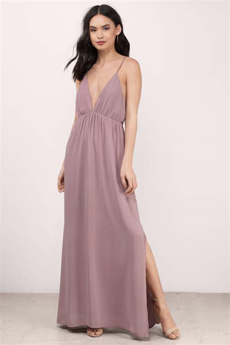 dress mauve dress pink chiffon dress maxi