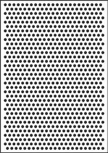 8mm polka dot template stencil for sale online for Ben day dots template