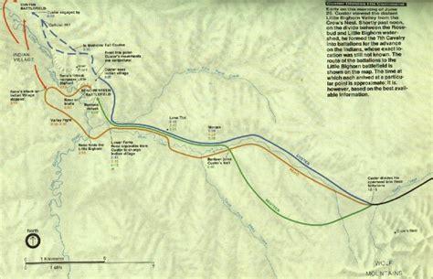 maps of little bighorn battle little bighorn history
