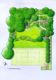 acres wild masterplan formal lawn with a semi circular end as pivot in the corner of an l shaped garden