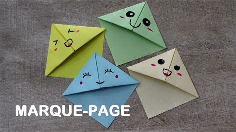 Faire Un Marque-page Kawaii En Origami Simple Et Rapide
