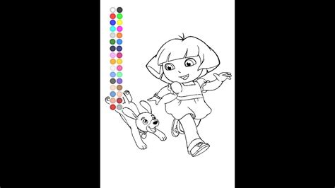 dora  explorer coloring pages nick jr coloring pages