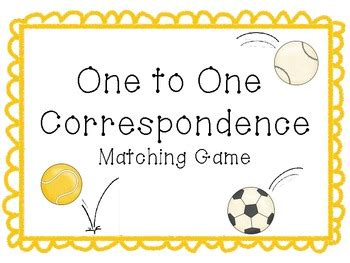 one to one correspondence activity sports theme by 261 | original 353263 1