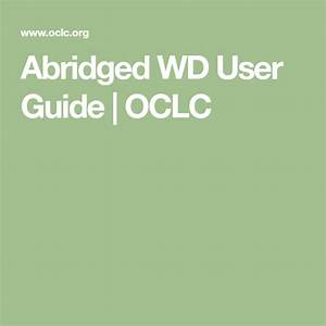 Abridged Wd User Guide