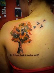 watercolor tree tattoo by Dale James | Tattoo inspiration ...