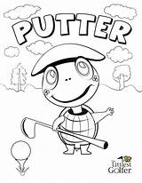 Coloring Littlest Golfer Putter Easy Pages sketch template