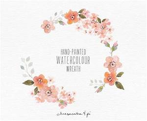 watercolor wreath hand painted floral wreath clipart With wedding invitation flower clipart free