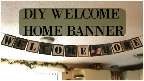diy  home banner homecoming banner youtube
