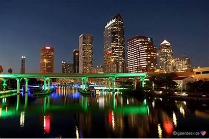 Tampa Skyline Panorama Inzwischen Eingetrudelt Genoss Liebste