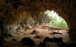洞窟:... の壁紙] フローレス人の洞窟