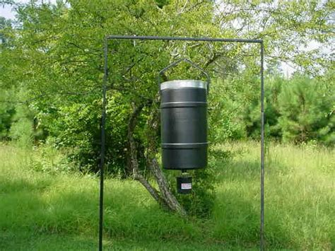 how to make a deer feeder troubles hanging your deer feeder read the expert
