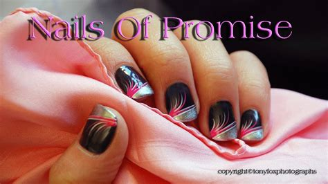 Easy Pink Flare Live Nail Art Tutorial. Nails Of Promise