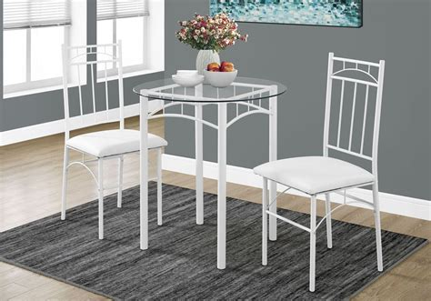 white metal 3 piece dining room from monarch coleman furniture