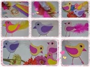 Pinterest Bricolage Jardin : bricolage printemps oiseaux avec gabarit activit s ~ Melissatoandfro.com Idées de Décoration
